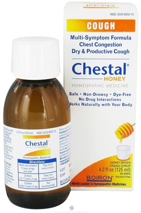 DROPPED: Boiron - Chestal Honey Homeopathic Cough Syrup - 4.2 oz.