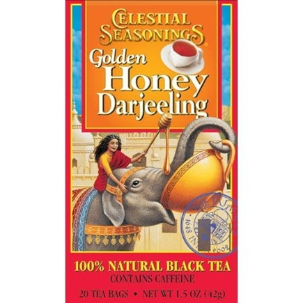 DROPPED: Celestial Seasonings - Golden Honey Darjeeling Natural Black Tea - 20 Tea Bags