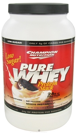 DROPPED: Champion Performance - Pure Whey Protein Stack Cookies & Cream - 2.2 lbs.
