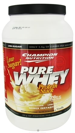 DROPPED: Champion Performance - Pure Whey Protein Stack Vanilla - 2.2 lbs. CLEARANCE PRICED