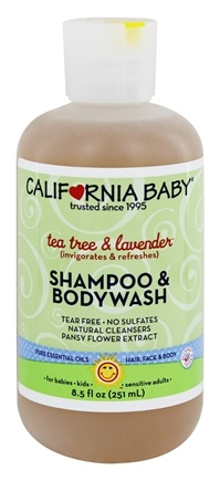 California Baby - Aromatherapy Shampoo & Bodywash All Natural Tea Tree & Lavender - 8.5 oz.
