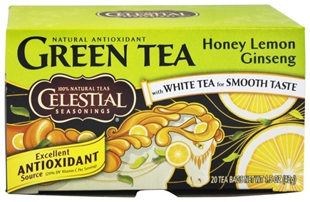 DROPPED: Celestial Seasonings - Honey Lemon Ginseng Green Tea - 20 Tea Bags
