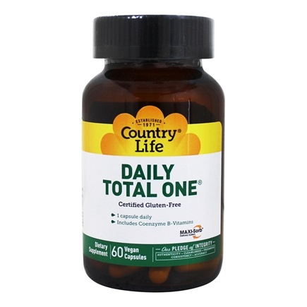 Country Life - Daily Total One with Maxi-Sorb Delivery System with Iron - 60 Vegetarian Capsules