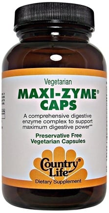 DROPPED: Country Life - Maxi-Zyme Extra Strength - 60 Vegetarian Capsules