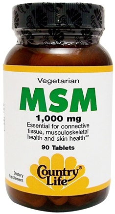 DROPPED: Country Life - MSM 1000 mg. - 90 Vegetarian Tablets