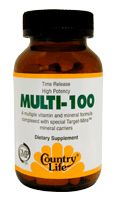DROPPED: Country Life - Multi 100 Time Released With Target Mins Mineral Carriers - 30 Tablets