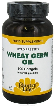 DROPPED: Country Life - Wheat Germ Oil Cold Pressed - 100 Softgels CLEARANCE PRICED