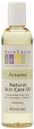 DROPPED: Aura Cacia - Natural Skin Care Oil Sesame - 4 oz. CLEARANCE PRICED