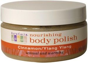 DROPPED: Aura Cacia - Nourishing Body Polish Cinnamon & Ylang Ylang - 8 oz.