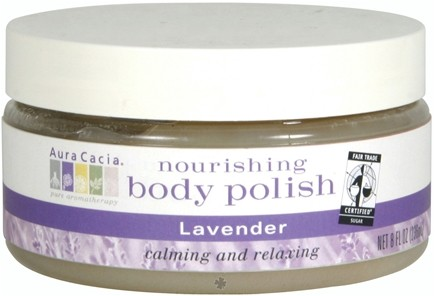 DROPPED: Aura Cacia - Nourishing Body Polish Lavender - 8 oz. cLEARANCE PRICED
