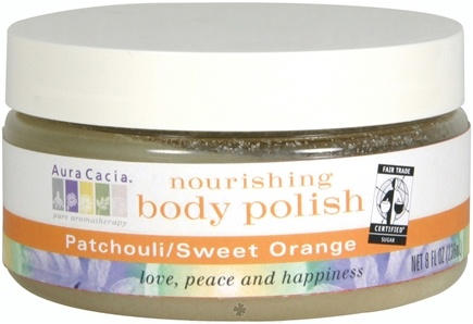 DROPPED: Aura Cacia - Nourishing Body Polish Patchouli & Sweet Orange - 8 oz. CLEARANCE PRICED