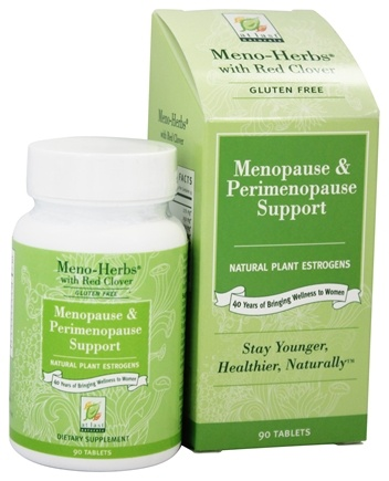 At Last Naturals - Meno-Herbs Wild Yam with Red Clover Gluten Free Menopause Support - 90 Tablets Formerly Born Again/LUCKY PRICE