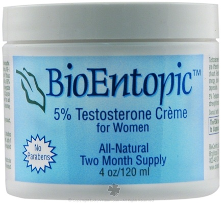 DROPPED: BioEntopic - 5% Testosterone Creme for Women - 4 oz.