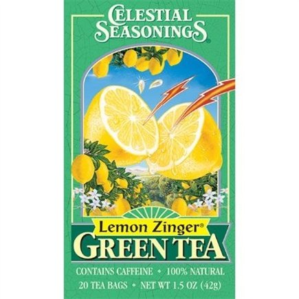 DROPPED: Celestial Seasonings - Lemon Zinger Green Tea - 20 Tea Bags