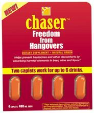 DROPPED: Living Essentials - Chaser Freedom From Hangovers - 4 Caplets