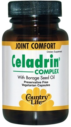 DROPPED: Country Life - Celadrin Complex - 90 Vegetarian Capsules CLEARANCE PRICED