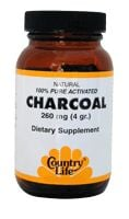 DROPPED: Country Life - Charcoal Caps 260 mg. - 40 Capsules