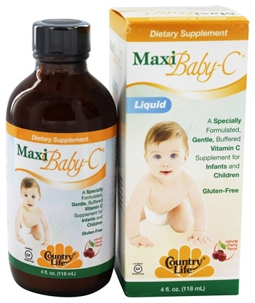 DROPPED: Country Life - Maxi Baby-C Liquid Natural Cherry Flavor - 4 oz.