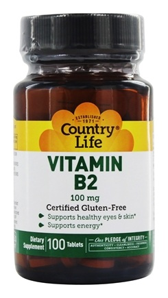 Country Life - Vitamin B-2 100 mg. - 100 Tablets