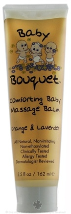 DROPPED: Baby Bouquet - Comforting Baby Massage Balm- Orange & Lavender - 5.5 Oz.