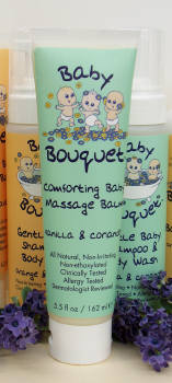 DROPPED: Baby Bouquet - Comforting Baby Massage Balm- Vanilla & Coriander - 5.5 Oz.