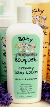 DROPPED: Baby Bouquet - Creamy Baby Lotion- Vanilla & Coriander - 8 Oz.