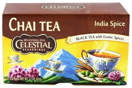 DROPPED: Celestial Seasonings - Original India Spice TeaHouse Chai - 20 Tea Bags