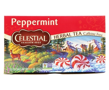 DROPPED: Celestial Seasonings - Peppermint Herb Tea Caffeine Free - 20 Tea Bags