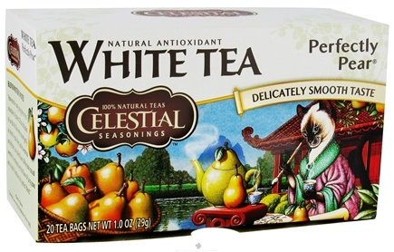 DROPPED: Celestial Seasonings - Perfectly Pear White Tea - 20 Tea Bags