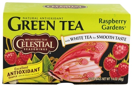 DROPPED: Celestial Seasonings - Raspberry Gardens Green Tea - 20 Tea Bags