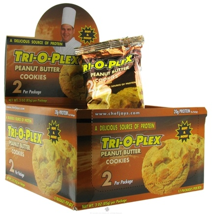 DROPPED: Chef Jay's - Tri-O-Plex Cookies Peanut Butter - 2 Pack(s)
