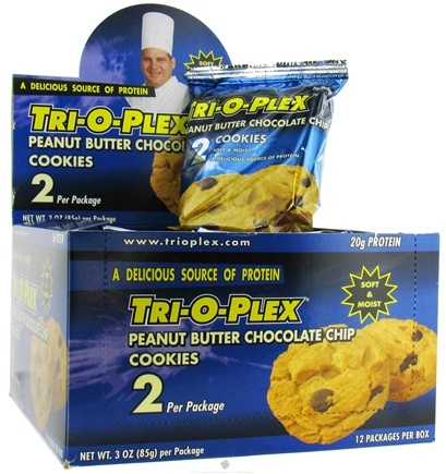 DROPPED: Chef Jay's - Tri-O-Plex Cookies Peanut Butter Chocolate Chip - 2 Pack(s)