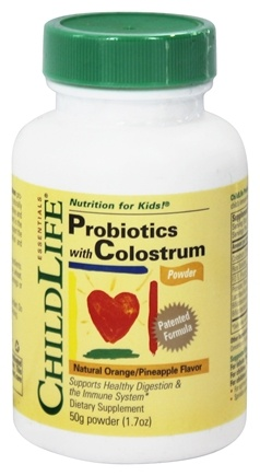 Child Life Essentials - Colostrum with Probiotics Powder Orange/Pineapple Flavor - 50 Grams