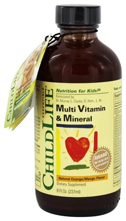 Child Life Essentials - Child Multi Vitamin & Mineral Liquid Orange/Mango Flavor - 8 Oz.