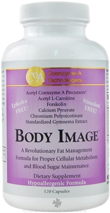 DROPPED: Coenzyme-A Technologies - Body Image Revolutionary Fat Management Formula Ephedra Free - 120 Capsules CLEARANCE PRICED