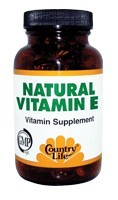 DROPPED: Country Life - Vitamin E 100 IU - 100 Softgels