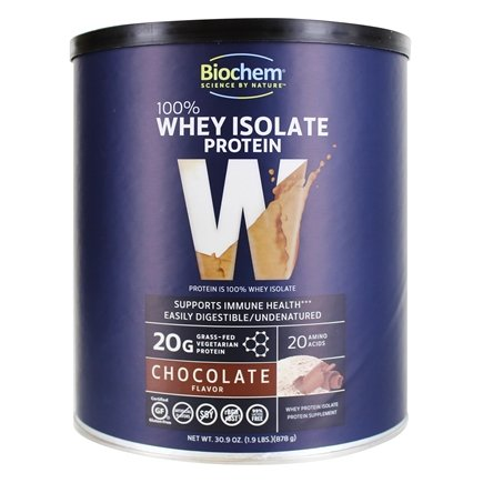 BioChem by Country Life - 100% Whey Protein Powder Chocolate Flavor - 30.9 oz.