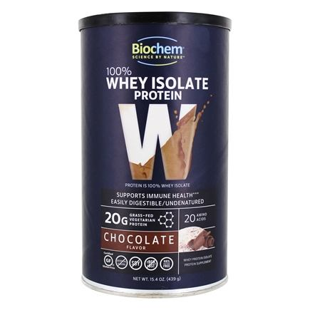 Biochem by Country Life - 100% Whey Protein Powder Chocolate - 15.4 oz.
