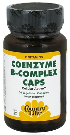 DROPPED: Country Life - Coenzyme B-Complex Caps - 30 Vegetarian Capsules CLEARANCE PRICED