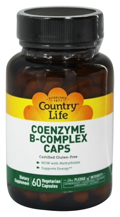 Country Life - Coenzyme B-Complex Caps - 60 Vegetarian Capsules