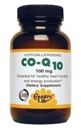 DROPPED: Country Life - Coenzyme Q Extra Super Potency 60 mg. - 30 Vegetarian Capsules