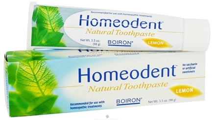 DROPPED: Boiron - Homeodent Natural Toothpaste (100 g) Lemon Flavor - 3.3 Oz. CLEARANCE PRICED