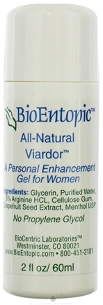 DROPPED: BioEntopic - Viardor for Women with 5% L-Arginine and With Menthol - 2 oz.