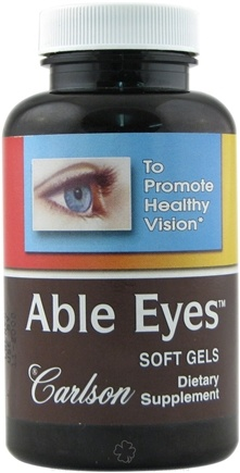 DROPPED: Carlson Labs - Able Eyes Healthy Vision - 30 Softgels CLEARANCE PRICED
