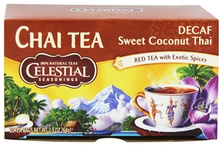 DROPPED: Celestial Seasonings - Sweet Coconut Thai Decaf - 20 Tea Bags