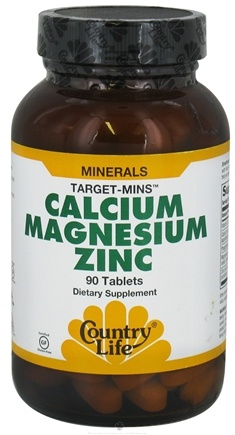 DROPPED: Country Life - Calcium-Magnesium-Zinc Target Mins - 90 Tablets