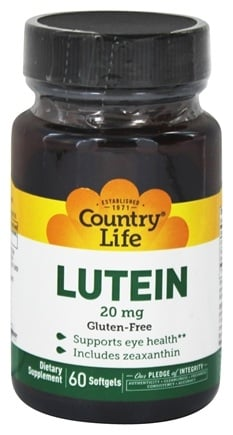 Country Life - Lutein 20 mg. - 60 Softgels