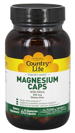 Country Life - Target Mins Magnesium Caps with Silica 300 mg. - 60 Vegetarian Capsules