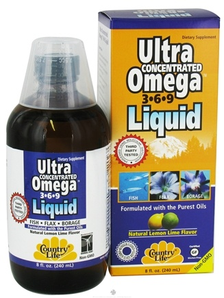 DROPPED: Country Life - Ultra Omega 3-6-9 Liquid - 8 oz. CLEARANCE PRICED