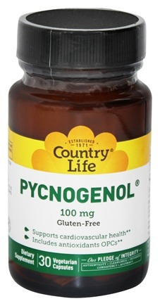 Country Life - Pycnogenol 100 mg. - 30 Vegetarian Capsules